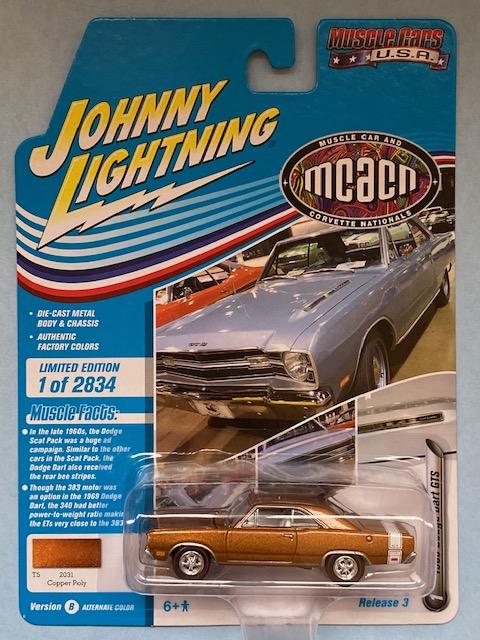 jlmc024b1 - 1969 DODGE DART GTS - COPPER POLY - JOHNNY LIGHTNING MCACN
