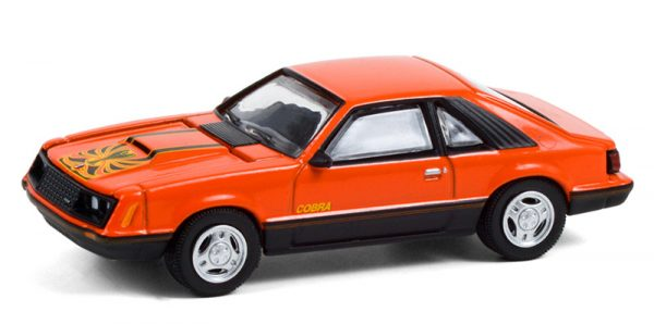 13290c - 1979 Ford Mustang Cobra in Tangerine and Black - Brand New Tooling! MUSCLE SERIES 24