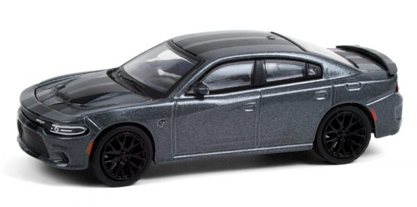 13290d - 2018 Dodge Charger SRT Hellcat in Granite Crystal with Black Stripes
