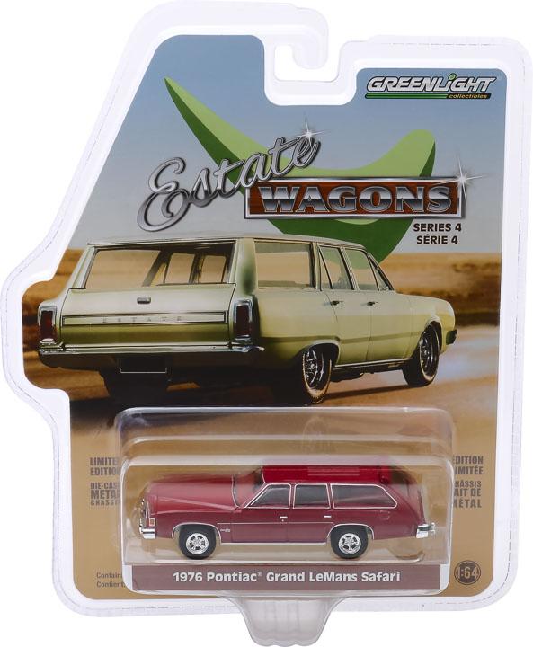 29970 e 1 64 estate wagons 4 1976 pontiac grand lemans safari wagon pkg frontb2b - 1976 Pontiac Grand LeMans Safari Wagon in Red -Estate Wagons Series 4