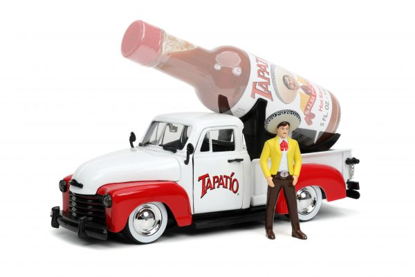 31968 1.24 hwr tapatio 1953 chevy pick up w charro man 1 scaled - 1953 Chevrolet Pickup Truck - Jada - Hollywood Rides - Tapatio Charro Man (Does not include Tapatio hot sauce)