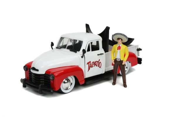 31968 1.24 hwr tapatio 1953 chevy pick up w charro man 4 scaled - 1953 Chevrolet Pickup Truck - Jada - Hollywood Rides - Tapatio Charro Man (Does not include Tapatio hot sauce)