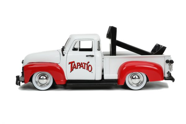 31968 1.24 hwr tapatio 1953 chevy pick up w charro man 5 scaled - 1953 Chevrolet Pickup Truck - Jada - Hollywood Rides - Tapatio Charro Man (Does not include Tapatio hot sauce)