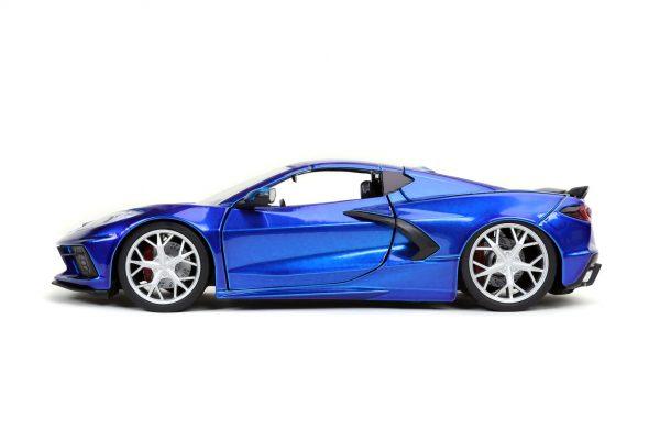 32537 1.24 btm 2020 corvette stingray c.blue 2 - 2020 CHEVROLET CORVETTE STINGRAY – CANDY BLUE JADA BTM