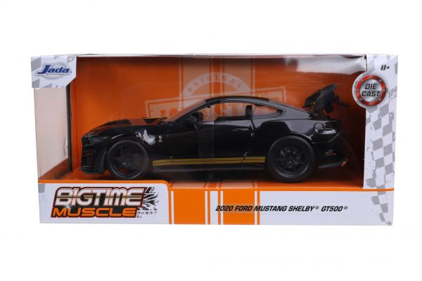 32661 1.24 btm 2020 ford mustang shelby gt500 g.black 4 - 2020 Ford Mustang Shelby GT500 - BTM BY JADA - BLACK