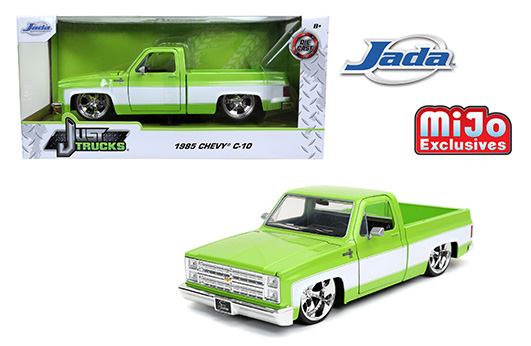 32685 - 1985 Chevrolet C10 Pick Up Truck in Lime green and white. MiJo Exclusive
