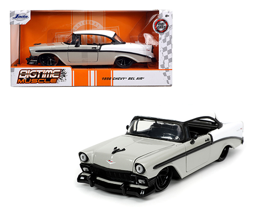 32696 sm - 1956 Chevy Bel Air - Bigtime Muscle - Grey/White/Black