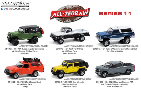 35190 1 64 all terrain 11 group b2b - 1995 Ford Bronco Sport with Off-Road Parts in Orange