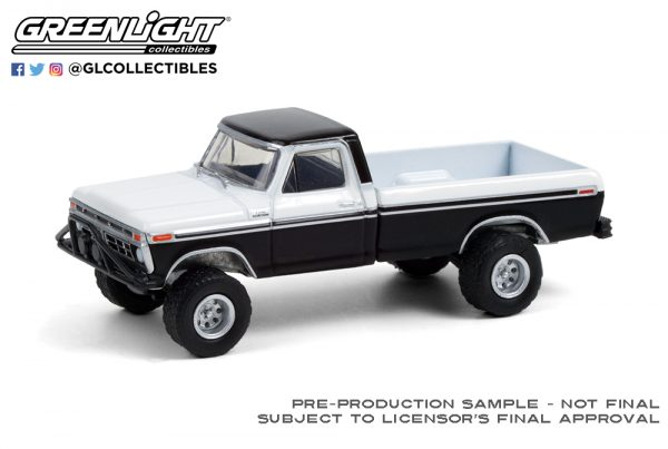 35190 b 1976 ford f 250 w off road parts black and white deco b2b - 1976 Ford F-250 PICK UP TRUCK with Off-Road Parts in Black and White