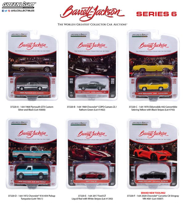37220 1 64 barrett jackson series 6 group pkg b2b - 2017 Ford GT in Liquid Red with White Stripes (Lot #1392)