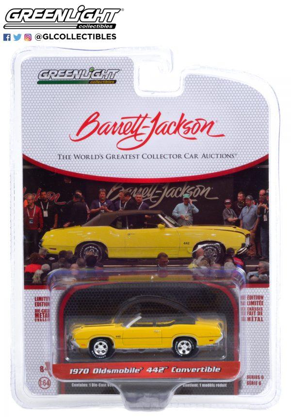 37220 c 1970 oldsmobile 442 convertible sebring yellow w black stripes pkg b2b - 1970 Oldsmobile 442 Convertible in Sebring Yellow with Black Stripes (Lot #743)