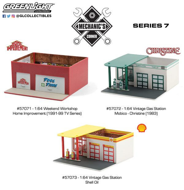 57070 1 64 mechanics corner 7 group b2b1 - Shell Oil #2 Vintage Gas Station