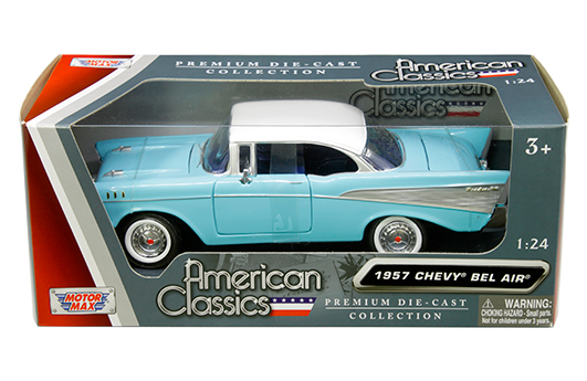 73228ac whbl 0 - 1957 Chevrolet Bel Air Two-Tone (White/Blue)-American Classics - MiJo Exclusives