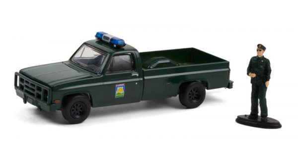 97100 d - 1986 Chevrolet M1008 with Enforcement Officer Figure - Florida Office of Agricultural Law Enforcement