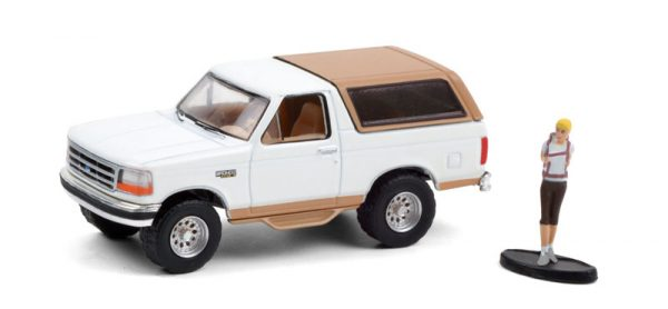 97100 f - 1996 Ford Bronco Eddie Bauer in Oxford White and Light Saddle with Backpacker