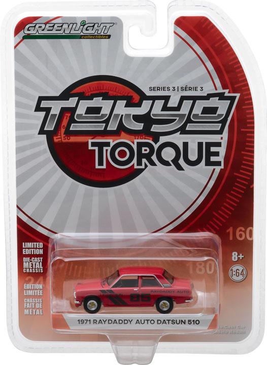 47010 e 1 64 tokyo torque 3 1971 datsun 510 pkg frontb2b - Tokyo Torque Series 3 - 1971 Datsun 510 - #85 Raydaddy Aut