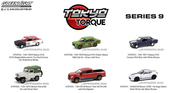 47070 1 64 tokyo torque 9 group b2b 1 - 1970 Datsun 510 4-Door Sedan - A&A Cab Co. - Green with Rust