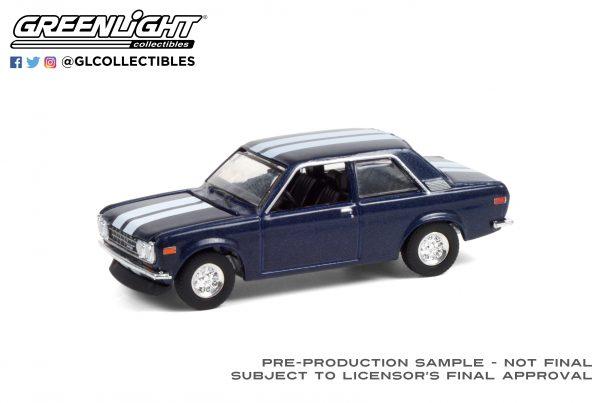 47070 c 1971 datsun 510 custom rich blue w white stripes deco high res scaled - 1971 Datsun 510 - Custom Rich Blue with White Stripes