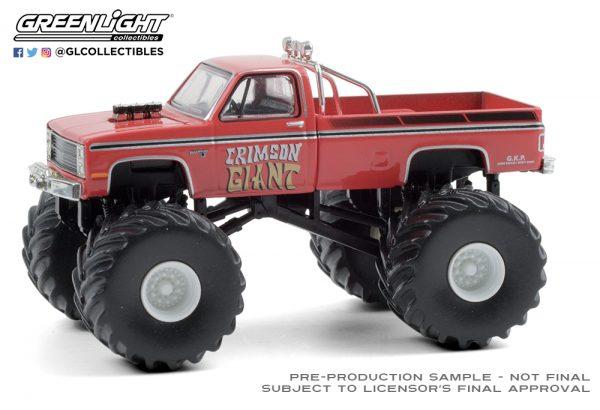 49080 f 1987 chevrolet silverado monster truck front b2b - Crimson Giant - 1987 Chevrolet Silverado Monster Truck
