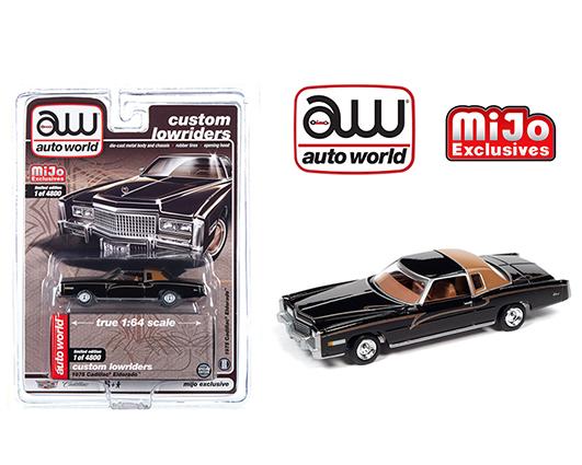 cp7719 24 - 1975 Cadillac Eldorado Black - Mijo Exclusive Lowriders (Limited Edition 4,800 Pcs)