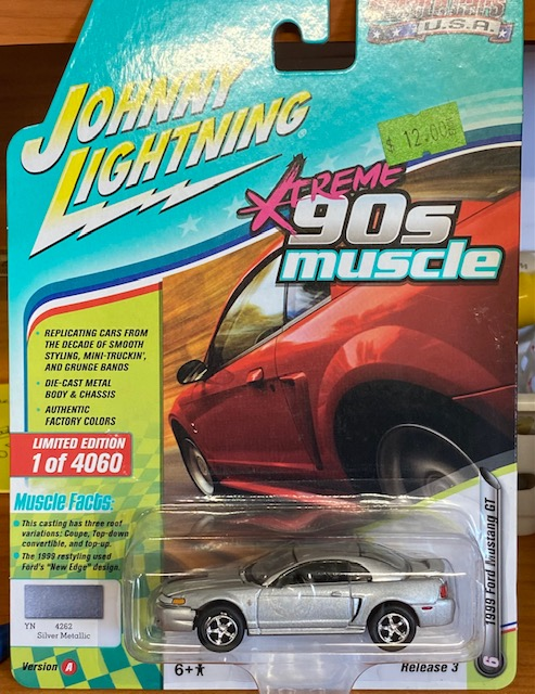"""jlsp029a - 1999 Ford Mustang GT Silver """"90's Muscle"""""""