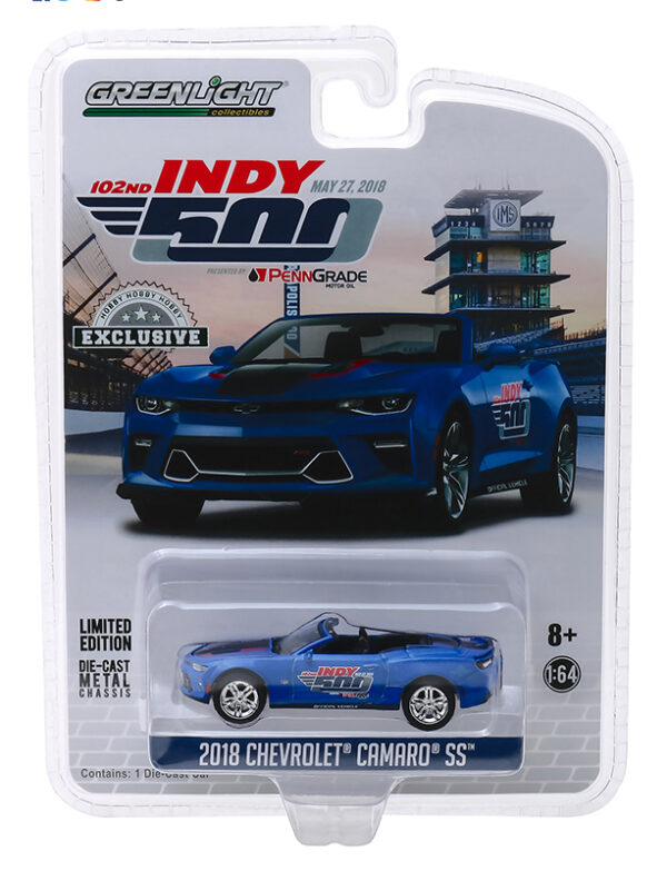 30004a - 2018 Chevrolet Camaro Convertible 500 Festival Event Car - 102nd Running Indy 500 Presented by PennGrade Motor Oil