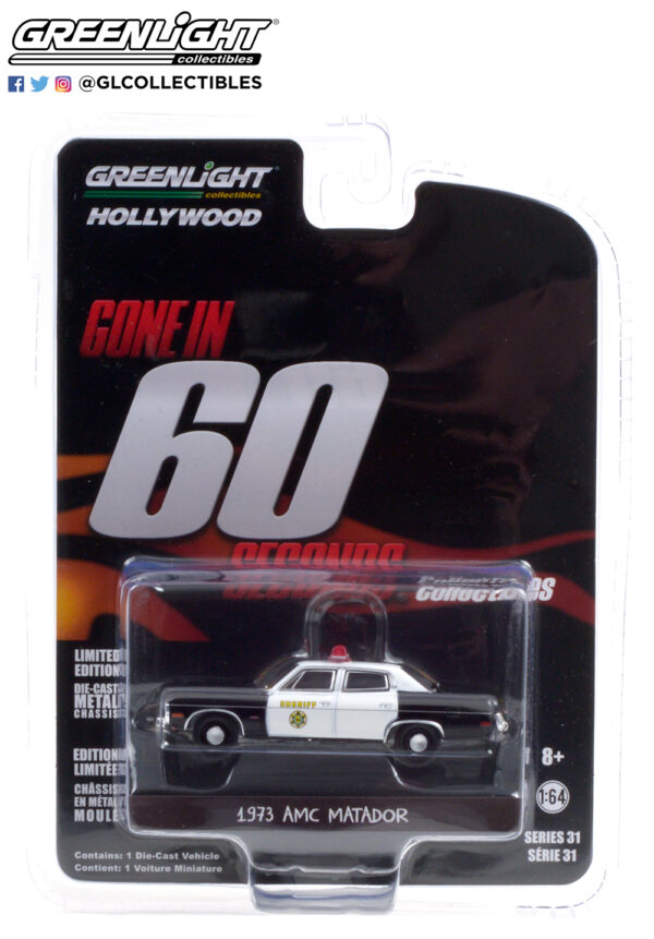 44910 a gone in sixty seconds 1973 amc matador los angeles county sheriff california pkg b2b - Gone in Sixty Seconds (1974) - 1973 AMC Matador - Los Angeles County Sheriff, California