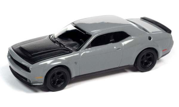 awsp068 a - 2018 Dodge Challenger SRT Demon in Destroyer Grey with Flat Black Hood