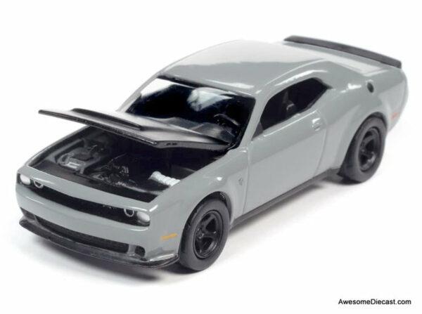 awsp068a - 2018 Dodge Challenger SRT Demon in Destroyer Grey with Flat Black Hood