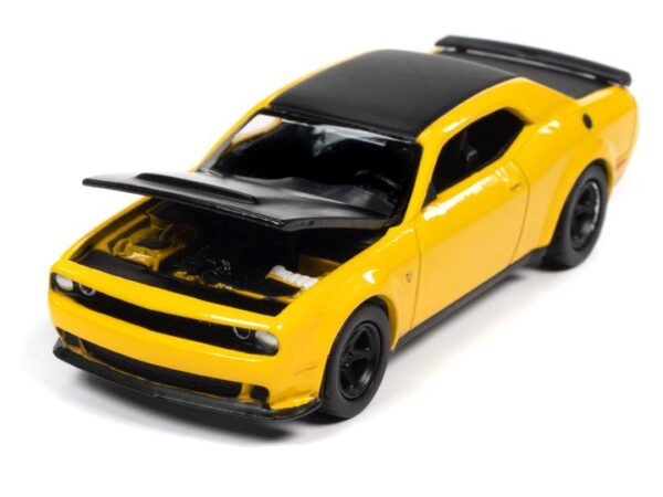 awsp068b2 - 2018 Dodge Challenger Demon in Yellow Jacket with Flat Black Hood, Roof & Trunk Lid