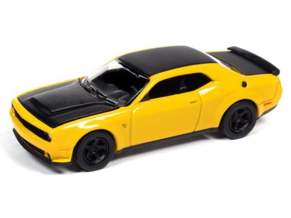 awsp068b3 - 2018 Dodge Challenger Demon in Yellow Jacket with Flat Black Hood, Roof & Trunk Lid