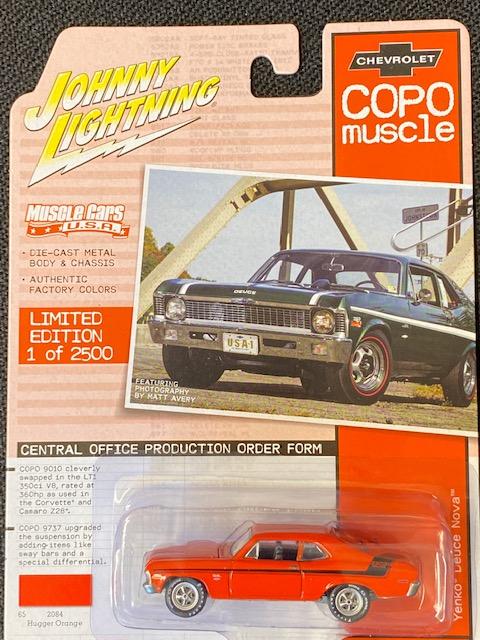 jlmc023b3 2 - 1970 COPO Yenko Deuce Nova in Hugger Orange with Black Stripes
