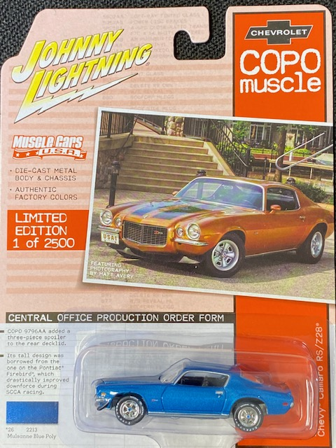 jlmc023b5 2 - 1970 1/2 COPO Chevrolet Camaro RS/Z28 in Mulsanne Blue with Black Stripes