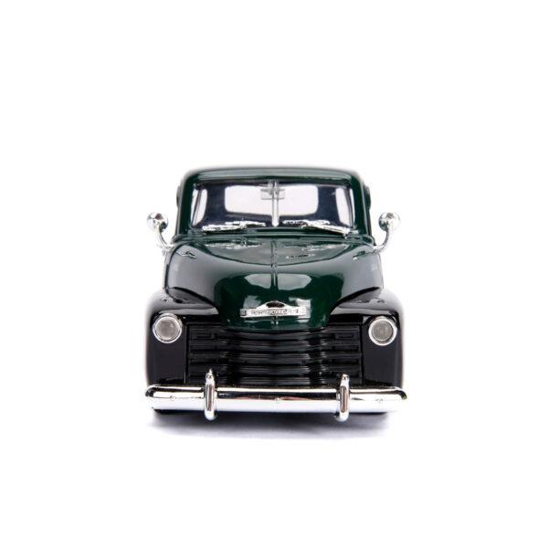30521a - 1953 Chevy Pick Up Truck, dark green/black w/extra wheels - Just Trucks