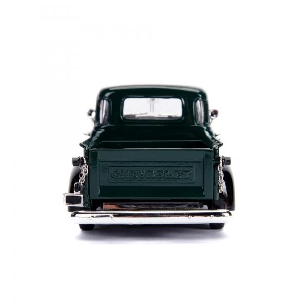 30521c - 1953 Chevy Pick Up Truck, dark green/black w/extra wheels - Just Trucks
