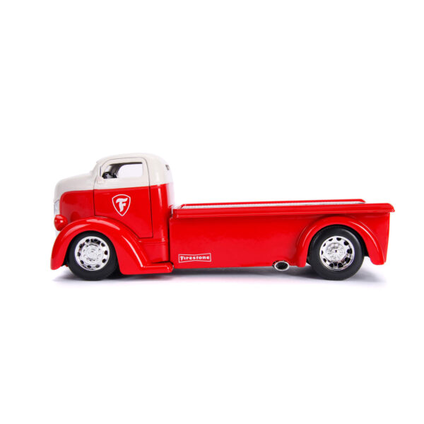 30523a - 1947 FORD COE FLATBED TRUCK, W EXTRA WHEELS, FIRESTONE, JUST TRUCKS