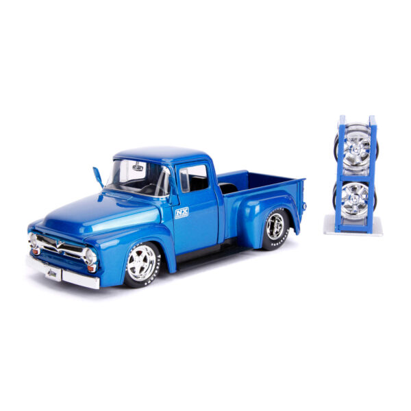 30709 - 1956 Ford F-100 Pick Up Truck with Extra Wheels, JUST TRUCKS