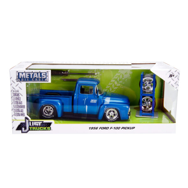 30709d - 1956 Ford F-100 Pick Up Truck with Extra Wheels, JUST TRUCKS
