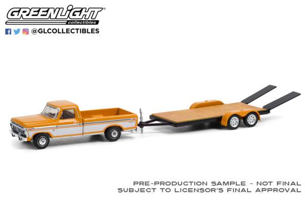 32220 b 1976 ford f 150 ranger xlt w flatbed trailer deco b2b - 1976 Ford F-150 Ranger XLT Trailer Special with Flatbed Trailer Solid Pack