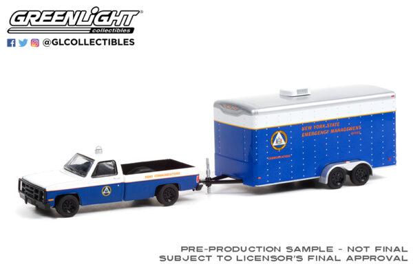 32220 c 1987 chevrolet m1008 ny semo w trailer deco b2b1 - 1987 Chevrolet M1008 New York State Emergency Management Office (SEMO) Communications with Communications Trailer