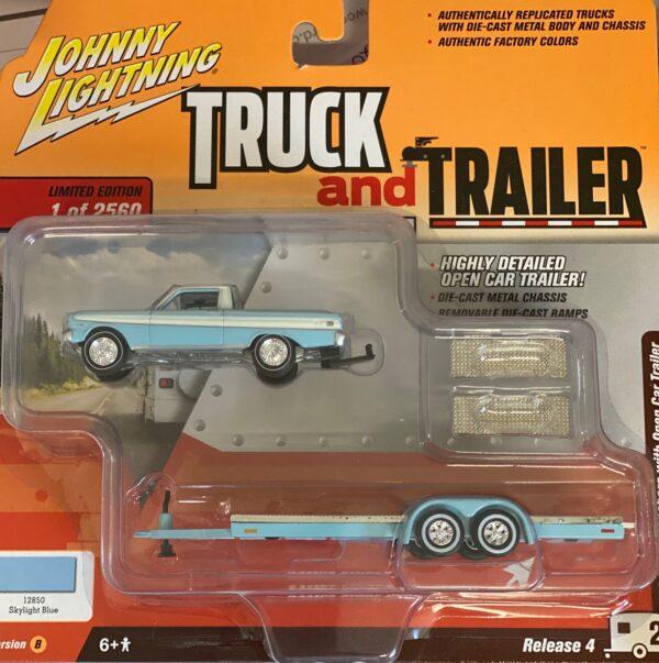 jlbt009a2 - 1964 FORD RANCHERO WITH OPEN CAR TRAILER