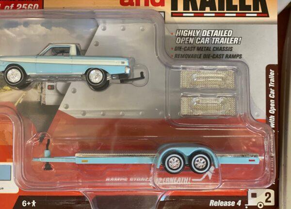 jlbt009b2 2 - 1964 FORD RANCHERO WITH OPEN CAR TRAILER