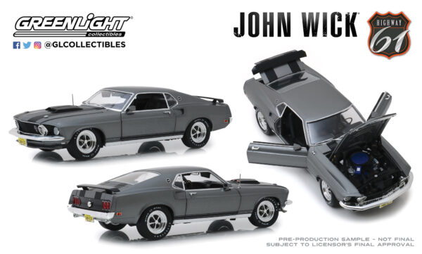 18016 - 1969 Ford Mustang Boss 429 - John Wick (2014) by Greenlight/Highway 61 -ARRIVING SEP 10
