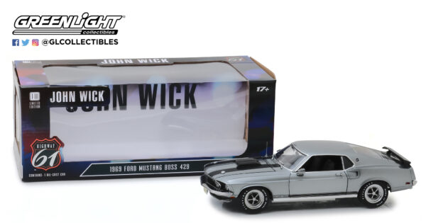 18016a - 1969 Ford Mustang Boss 429 - John Wick (2014) by Greenlight/Highway 61 -ARRIVING SEP 10
