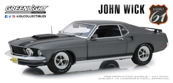 18016d - 1969 Ford Mustang Boss 429 - John Wick (2014) by Greenlight/Highway 61 -ARRIVING SEP 10