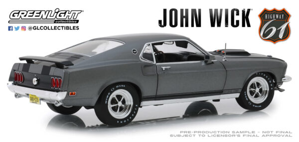 18016g - 1969 Ford Mustang Boss 429 - John Wick (2014) by Greenlight/Highway 61 -ARRIVING SEP 10
