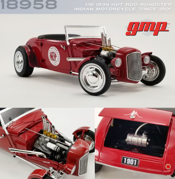 18958 - 1934 HOT ROD ROADSTER - INDIAN MOTORCYCLE SINCE 1901 - GMP