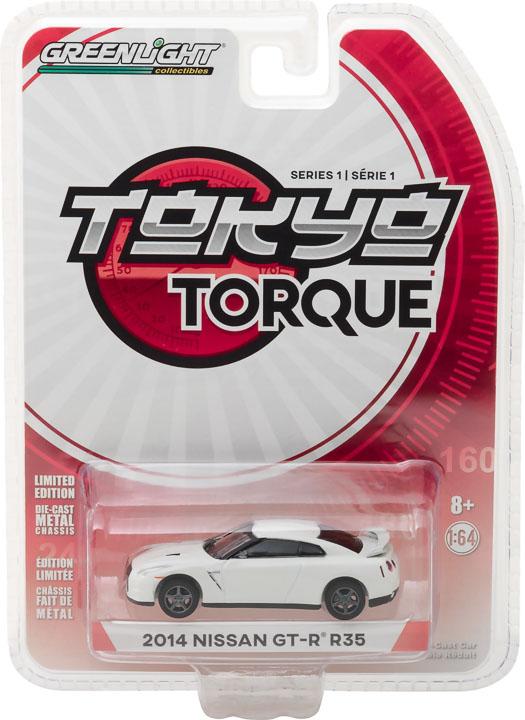 29880 f 1 64 tokyo torque series 1 2014 nissan gt r r35 pkg frontb2b - 2014 Nissan GT-R (R35) - White Pearl - Tokyo Torque Series 1