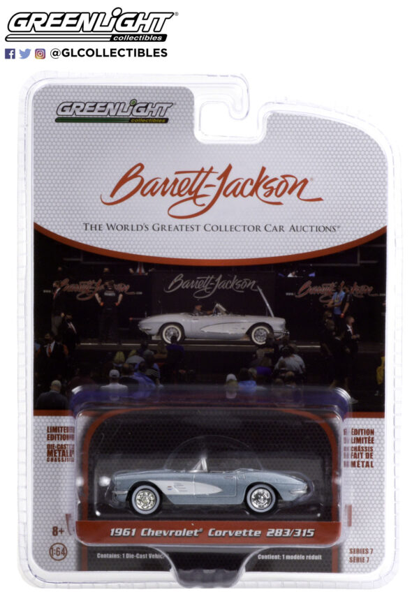 37230a1 - 1961 Chevrolet Corvette Convertible (Lot #681) - Sateen Silver with Black Interior