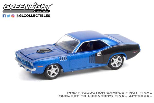 37230c - 1970 Plymouth Barracuda Custom Hardtop (Lot #720) - Blue with Modern HEMI Lettering